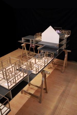Heidi Schatzl, NS-Urbanismus (Detail), Installationsansicht, 2012
